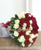100 Roses Hand Bouquet
