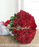 100 Red Roses Hand Bouquet