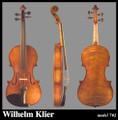 Wilhelm Klier Model 702 violin