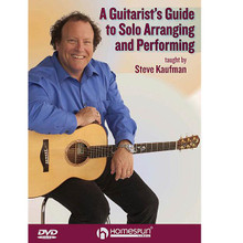 A Guitarist's Guide to Solo Arranging and Performing by Steve Kaufman. For Guitar. Homespun Tapes. DVD. Guitar tablature. Homespun #DVDKAUAR21. Published by Homespun.  A master guitarist and teacher provides invaluable advice, drills, ideas, tunes and techniques that will get a player primed for solo instrumental performing. He teaches arrangements in a variety of acoustic genres – folk, bluegrass, Celtic and ragtime – that range from early- to advanced-intermediate levels. Songs include: Amazing Grace • The Water Is Wide • Randall Collins • Lament for Lowrie O'da Lea • Alabama Jubilee • My Grandfather's Clock • June Apple • and more. Includes music and tab PDF file on disc. 2 hours.