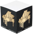 Grand Piano Memo Cube Black/Gold