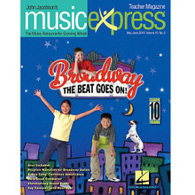 Broadway! The Beat Goes On Vol. 10 No. 6. (May/June 2010). For Choral (Teacher Magazine w/CD). Music Express. 64 pages. Published by Hal Leonard.  Songs: Celebrate the Music, What It Means to Be a Friend / Thirteen (from 13), Make Music, America, Spotlight on Jason Robert Brown, Take a Walk Down the Broadway Beat (A Broadway Timeline), World Celebrations: Celebrate the U.S.A., Listening: The Young People's Guide to the Orchestra by Benjamin Britten.