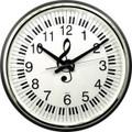 "Wall Clock Keyboard G-Clef - 18"" Round"