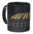 3-D Keyboard Mug - Black/Gold
