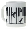 Kitten On The Keys Mug - White