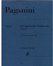 24 Capricci Op. 1 (Violin Solo) ** By Nicole Paganini ** Edited by Alberto Canto. Violin. Henle Music Folios. Pages: VI I Part = VII and 69 * Vl Part with editiorial annotations and comments = 85. Softcover. 164 pages. G. Henle Verlag #HN450. Published by G. Henle Verlag.  Without and with annotations.