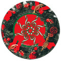 Holiday Wreath Vinyl Coaster