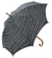 Sheet Music Umbrella With Wooden Handle - Black