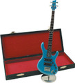 Mini Blue Ibanez Guitar Replica with Case 9.5""