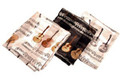 "Satin/Silk Scarf - Guitars/Notes - Black With Brown 14"" x 60"""