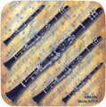 Clarinet Sheet Music Vinyl Coaster
