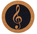 G-Clef Coaster - Cork