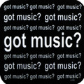 Got Music? Square Vinyl Coaster