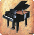 Grand Piano Sheet Music Vinyl Coaster