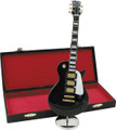 "Be a showstopper when you display this one of a kind 9 1/2"" black mini Les Paul with case displayed at home or work. You will not believe the detail or craftsmanship put into this miniature."