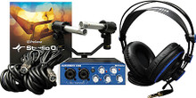 AudioBox(TM) Stereo Recording Bundle hardware. General Merchandise. Published by Hal Leonard.  Recording rehearsals and performances in schools, churches, and studios is easy with the PreSonus® AudioBox™ Stereo recording kit! This special all-PreSonus system combines an AudioBox USB interface with Studio One® Artist music-production software, HD7 monitoring headphones, a pair of SD7 small-diaphragm condenser microphones, and all necessary cables and mounts.