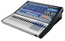 StudioLive(TM) 16.0.2 (16x2 Performance and Recording Digital Mixer). Hardware. General Merchandise. Published by Hal Leonard.  The StudioLive™ 16.0.2 is the mixer for small churches, schools, bands, and clubs, and itís perfect for a small studio on a budget. It features 16 channel inputs, 4 of them stereo channels, and 12 with XMAX™ mic preamps; a built-in FireWire interface; extensive signal processing on every channel and bus; 4 aux buses; extensive metering; Scene and setting save/recall; MIDI control; and more. Yet itís lightweight and rack-mountable, operates much like an analog console, and delivers superb audio quality. Bundled VSL control software includes Smaart Measurement Technology™!