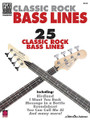 Classic Rock Bass Lines by Various. For Bass. Bass. Guitar tablature. 120 pages. Published by Cherry Lane Music.  25 classic rock bass lines, transcribed note-for-note:  Are You Gonna Go My Way • Birdland • Cat Scratch Fever • Crazy on You • Cut the Cake • Dixie Chicken • Don't Stop Believin' • Fairies Wear Boots (Interpolating Jack the Stripper) • Feels like the First Time • FM • Getting Better • I Want You Back • Lowdown • Message in a Bottle • Minute by Minute • My Generation • Rock & Roll - Part II (The Hey Song) • Rosanna • Roundabout • Satch Boogie • The Stroke • Sunday Papers • Welcome to the Jungle • What Is Hip • You Can Call Me Al.