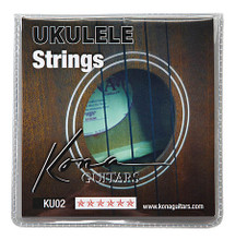 Kona Black Nylon String Set for Ukulele accessory. General Merchandise. Hal Leonard #KU02. Published by Hal Leonard.  Black nylon strings for uke. B: .022 inch; F#: .028 inch; D: .032 inch; A: .022 inch.