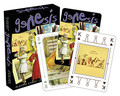 Genesis Playing Cards by Genesis. Accessory. General Merchandise. Aquarius #52275. Published by Aquarius.  Filled with 52 different images of this legendary British band, this is a great pack of playing cards! It measures 2.5 x 3.5 and has a linen type finish. 100% officially licensed.