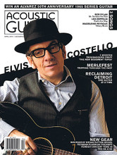 Acoustic Guitar Magazine April 2015 Accoustic Guitar Magazine. 98 pages. Published by Hal Leonard.  Acoustic Guitar – April 2015 Cover Stories: Elvis Costello • 5 Modern Troubadours Craft 'The New Basement Tapes' • Merlefest, Tripping Through the Past • Reclaiming Detroit, One Guitar at a Time • Win an Alvarez 50th Anniversary 1965 Series Guitar • New Gear: Bourgeois' Bryan Sutton Model, Fishman Platinum Preamps, Fender Concert Tone 59, PRS SE A10E • 3 Songs: Bob Dylan Mr. Tambourine Man Led Zeppelin That's the Way Madeleine Peyroux Weary Blues