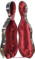 Bobelock Cello Case, Fiberglass Suspension w/Wheels - 3/4