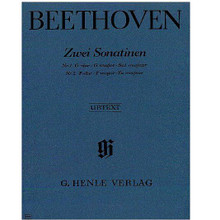 2 Sonatinas for Piano In F Major and G Major Anh. 5 ** by Ludwig van Beethoven (1770-1827) ** Edited by Bertha Antonia Wallner. For piano solo. Piano (Harpsichord), 2-hands. Henle Music Folios. Pages: 7. SMP Level 4 (Intermediate). Softcover. 7 pages. G. Henle Verlag #HN365. Published by G. Henle Verlag.  About SMP Level 4 (Intermediate)  Introduction of 4-note chords and sixteenth notes. Hand movement covering 2 to 3 octaves.