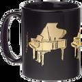 Grand Piano Mug - Black/Gold