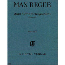 10 Little Pieces, Op. 44 (Piano Solo) ** By Max Reger (1873-1916) ** Edited by Egon Voss. For piano solo. Piano (Harpsichord), 2-hands. Henle Music Folios. Pages: X and 19. SMP Level 8 (Early Advanced). Softcover. 31 pages. G. Henle Verlag #HN486. Published by G. Henle Verlag.  About SMP Level 8 (Early Advanced)  4 and 5-note chords spanning more than an octave. Intricate rhythms and melodies.   Contents:      Albumblatt, Op. 44,1 (Piano Solo) Performed by Max Reger     Burletta, Op. 44,2 (Piano Solo) Performed by Max Reger     Es War Einmal, Op. 44,3 (Piano Solo) Performed by Max Reger     Capriccio, Op. 44,4 (Piano Solo) Performed by Max Reger     Moment Musical, Op. 44,5 (Piano Solo) Performed by Max Reger     Scherzo, Op. 44,6 (Piano Solo) Performed by Max Reger     Humoresque, Op. 44,7 (Piano Solo) Performed by Max Reger     Fughetta, Op. 44,8 (Piano Solo) Performed by Max Reger     Jig, Op. 44,9 (Piano Solo) Performed by Max Reger     Capriccio, Op. 44,10 (Piano Solo) Performed by Max Reger