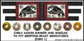 LBM-134 Early Saxon Banner & Shield Sheet