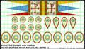 LBM-142 Byzantine Banner & Shield Sheet
