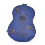 Chitarra: Bruce Range Collection – Italian Calf Leather Full-size Guitar Backpack in- Blue