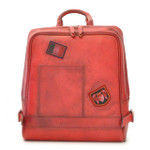 Firenze: Bruce Range Collection – Italian Calf Leather Laptop Backpack in - Ciliegia