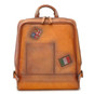 Firenze: Bruce Range Collection – Italian Calf Leather Laptop Backpack in - Cognac