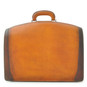 Brunelleschi Bruce Grande Briefcase for Laptop - Brown Back View