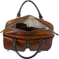Montalcino: Bruce Range Collection – Single Compartment Italian Calf Leather Briefcase in - Brown open View