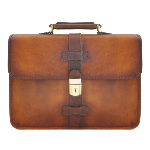 Pratomagno Briefcase - Brown