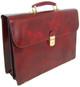 Donatello - Double Compartment Leather Briefcase - Nutella