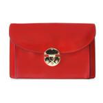 Tullia d'Aragona: Radica Range Collection – Italian Calf Leather Cross body Clutch in Cherry
