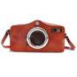 Photocamera: Radica Range Collection – Italian Calf Leather Shoulder Bag in Brown