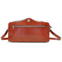 Photocamera: Radica Range Collection – Italian Calf Leather Shoulder Bag in Brown Backview