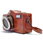 Photocamera: Radica Range Collection – Italian Calf Leather Shoulder Bag in Brown side view