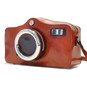 Photocamera: Radica Range Collection – Italian Calf Leather Shoulder Bag in Brown Zoom View