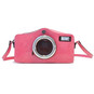 Photocamera: Radica Range Collection – Italian Calf Leather Shoulder Bag in Pink