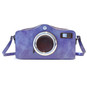 Photocamera: Radica Range Collection – Italian Calf Leather Shoulder Bag in Violet