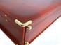 Machiavelli: Radica Range Collection – Grande Italian Calf Leather Attache Briefcase - Metal View