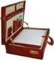 Machiavelli: Radica Range Collection – Grande Italian Calf Leather Attache Briefcase - Open View