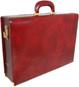 Machiavelli: Radica Range Collection – Grande Italian Calf Leather Attache Briefcase in - Nutella