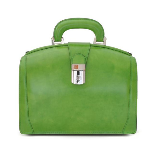 Miss Brunelleschi: Radica Range Collection – Italian Calf Leather Handbag in Green