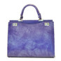 Anna Maria Luisa: Radica Range Collection – Large Italian Calf Leather Top Handle Handbag in Violet